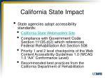 california state impact