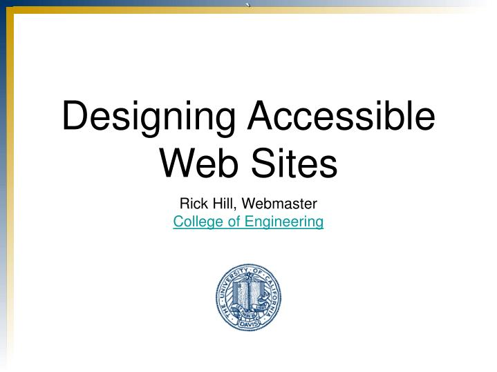 designing accessible web sites n.
