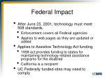 federal impact