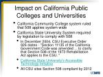 impact on california public colleges and universities