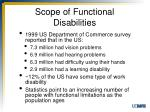 scope of functional disabilities1