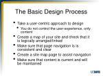 the basic design process