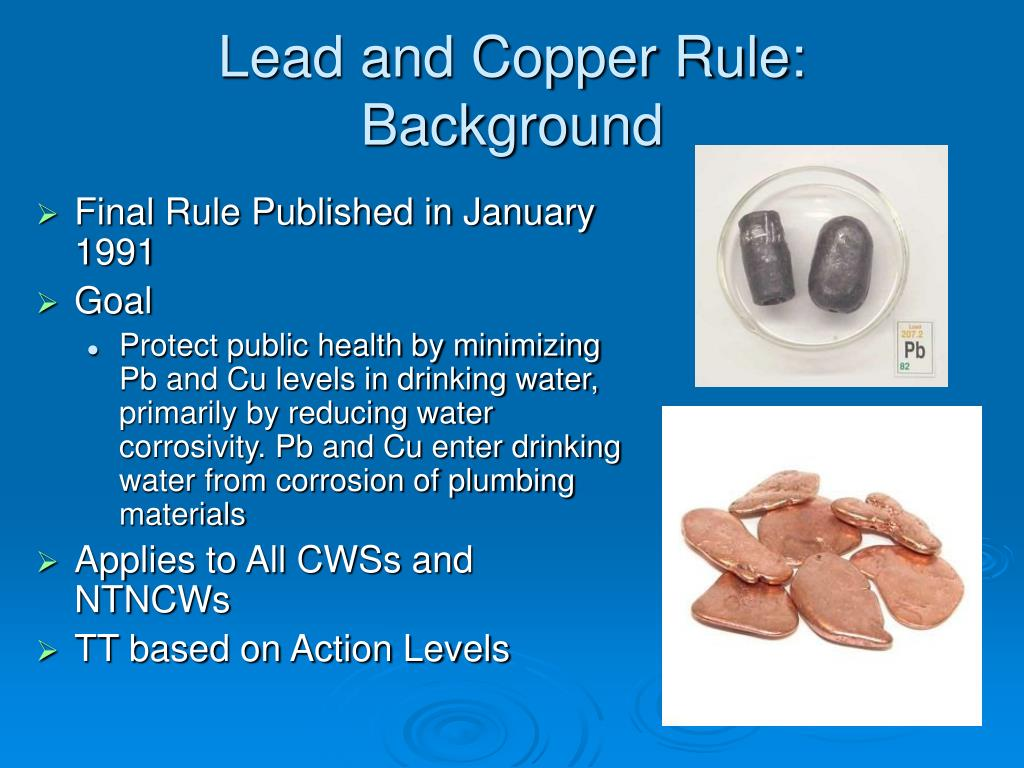 Lead and Copper Rule: Background
