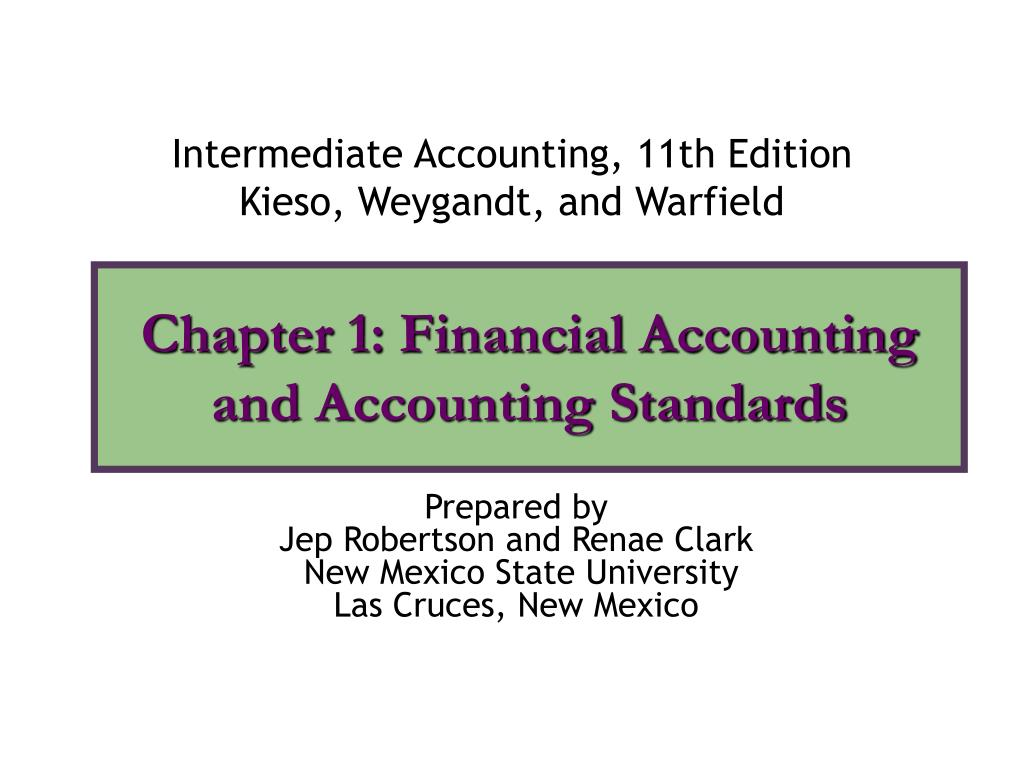 chapter 1 financial accounting and accounting standards l.