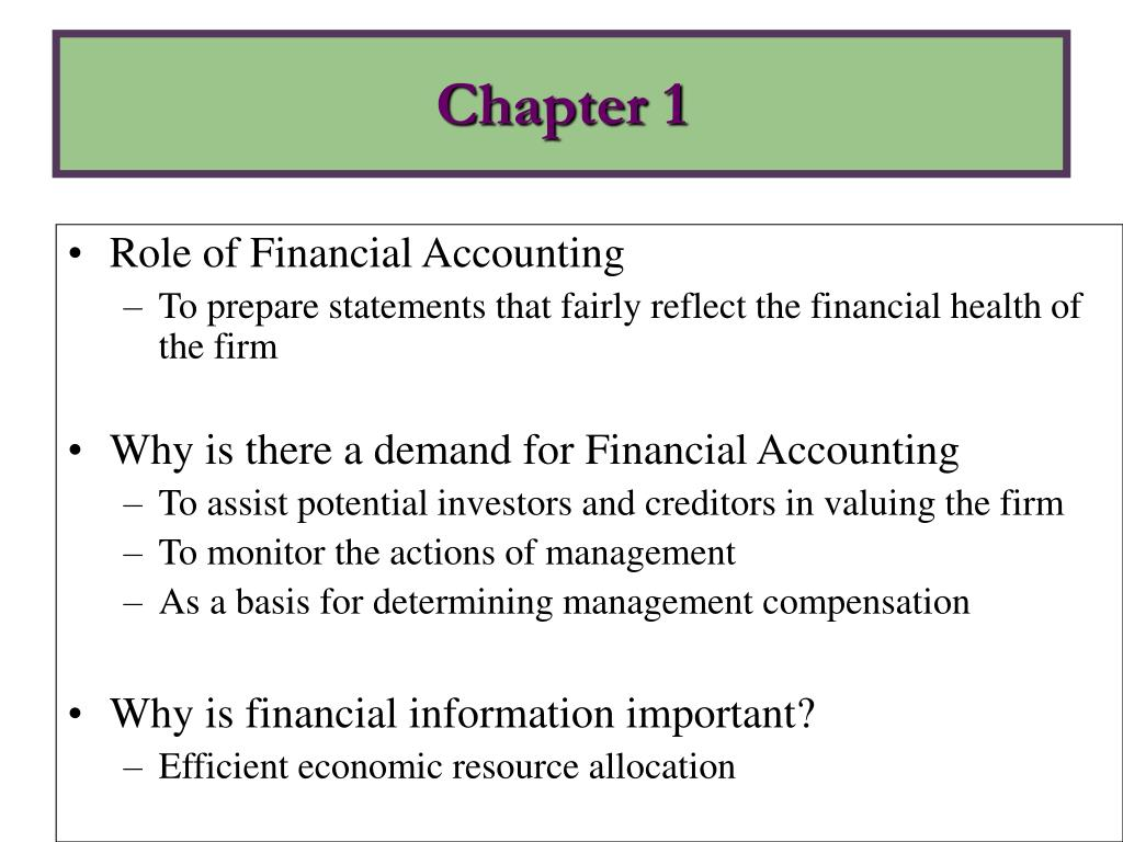 Role of Financial Accounting