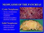 neoplasms of the pancreas