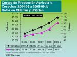 costos de producci n agr cola a cosechas 2004 05 a 2008 09 b datos en cr fan y us fan