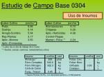 estudio de campo base 0304