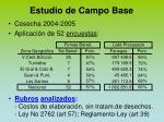 estudio de campo base20