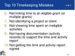 top 10 timekeeping mistakes57