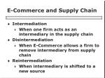 e commerce and supply chain