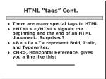 html tags cont