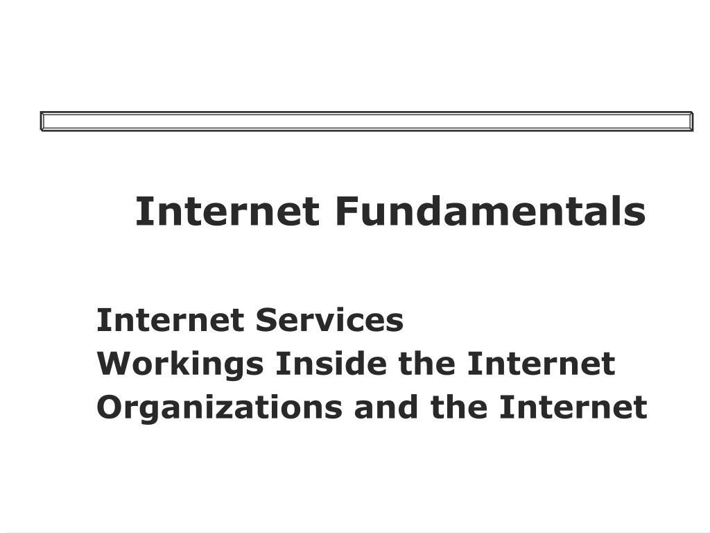 internet fundamentals l.