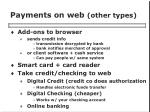 payments on web other types
