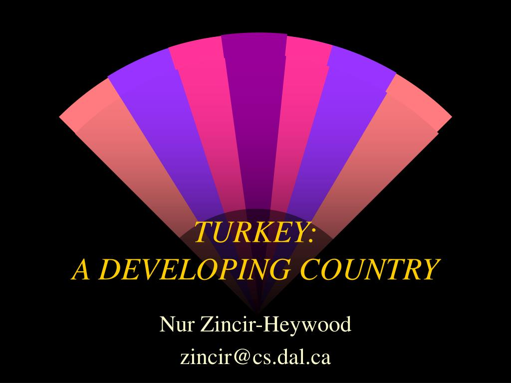 turkey a developing country l.