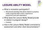 leisure ability model14