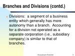 branches and divisions contd5
