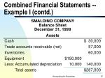 combined financial statements example i contd57