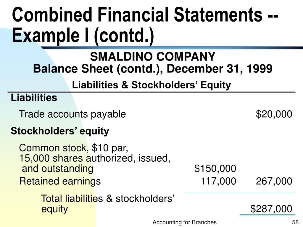 Liabilities & Stockholders' Equity