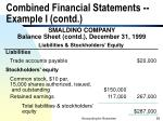 combined financial statements example i contd58