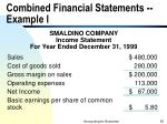 combined financial statements example i