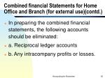 combined financial statements for home office and branch for external use contd