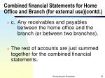 combined financial statements for home office and branch for external use contd33