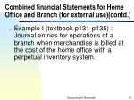 combined financial statements for home office and branch for external use contd34