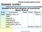 periodic inventory system contd example contd84