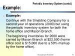 periodic inventory system contd example