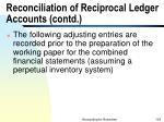 reconciliation of reciprocal ledger accounts contd103
