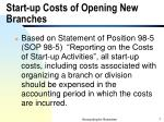 start up costs of opening new branches