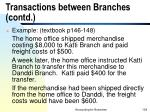 transactions between branches contd