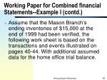 working paper for combined financial statements example i contd