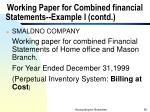 working paper for combined financial statements example i contd50