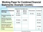 working paper for combined financial statements example i contd52