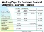 working paper for combined financial statements example i contd53