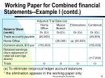 working paper for combined financial statements example i contd54