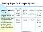 working paper for example ii contd67