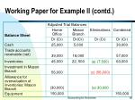working paper for example ii contd68