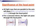 significance of the focal point
