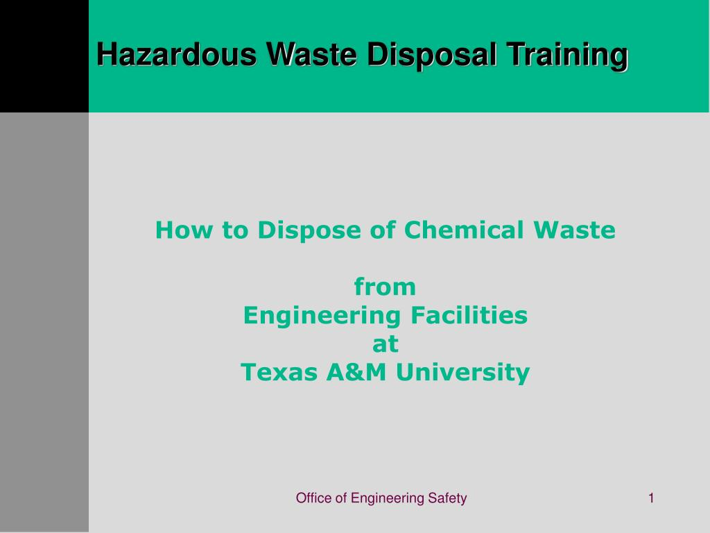 hazardous waste disposal training l.