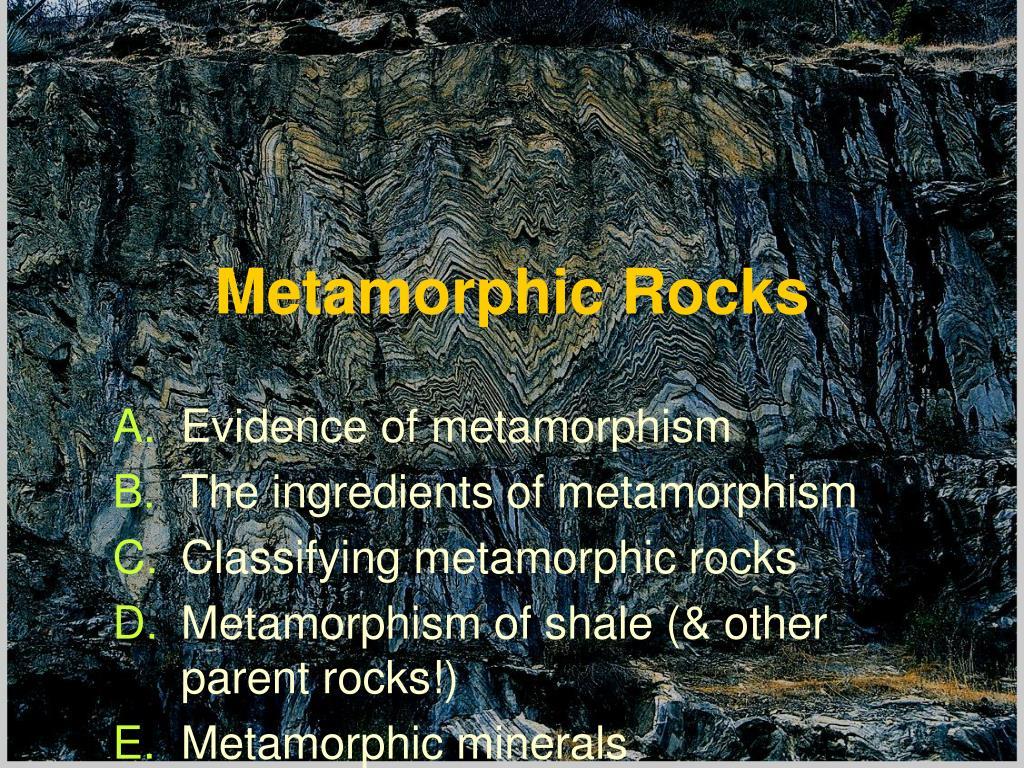 metamorphic rocks l.