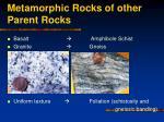 metamorphic rocks of other parent rocks20