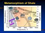 metamorphism of shale