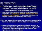 b biodiesel