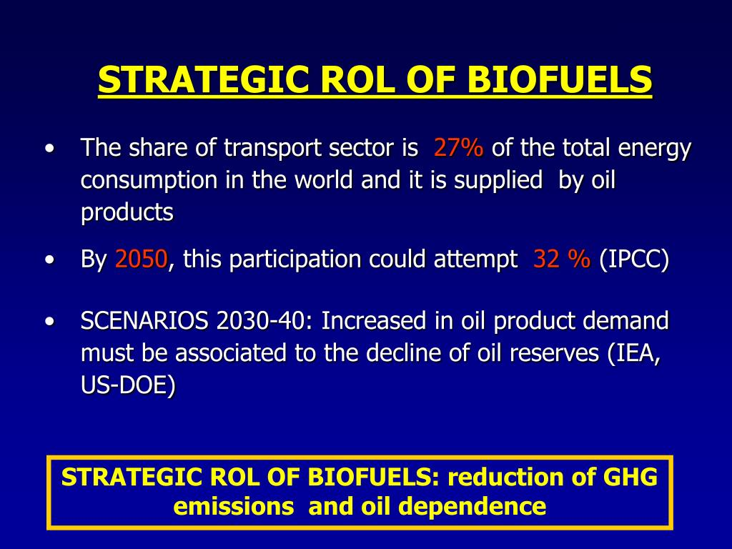 STRATEGIC ROL OF BIOFUELS