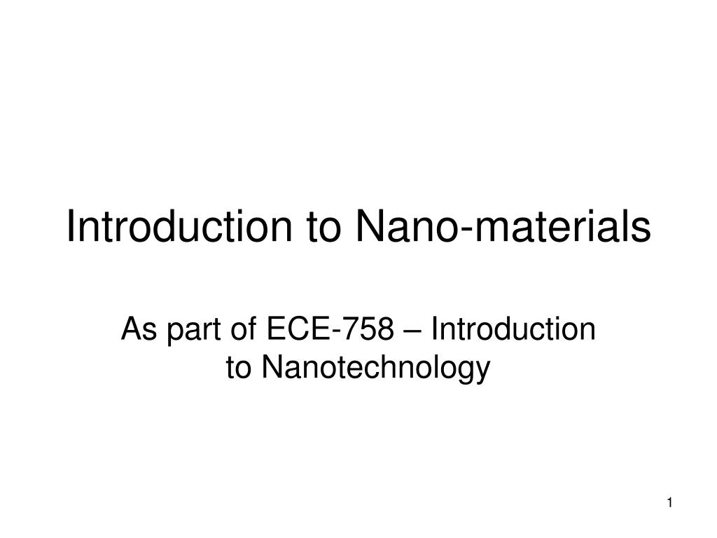 introduction to nano materials l.