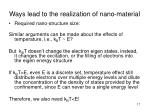 ways lead to the realization of nano material17