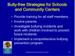 bully free strategies for schools and community centers38